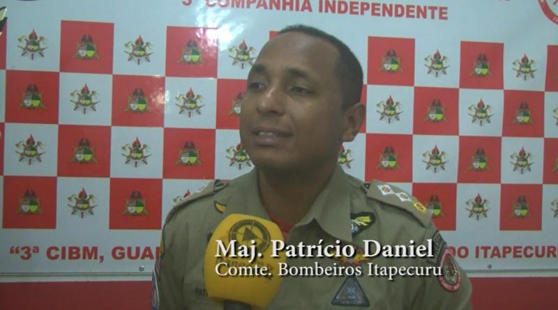 Maj. Patrício Daniel em entrevista à Itapecuru Webtv. Foto: João Di Bragança