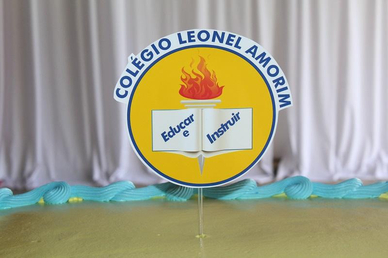 Brasão do Colégio Leonel Amorim. Foto: Alberto Júnior