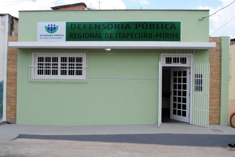 Sede da Defensoria Pública em Itapecuru Mirim. Foto: Reprodução