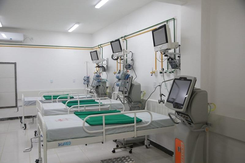 Leitos preparados para receber pacientes dos 14 municípios da região de Itapecuru. Foto: divulgação