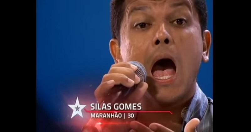 Silas Gomes em apresentação no programa Got Talent Brasil, Rede Record. Foto: Reprodução