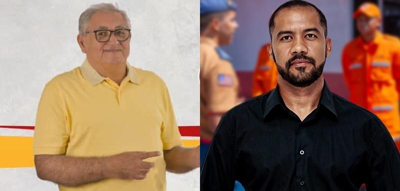 (dir) Benedito Coroba e Welton Martins. Foto: Sobreposição de imagens colhidas em páginas dos candidatos