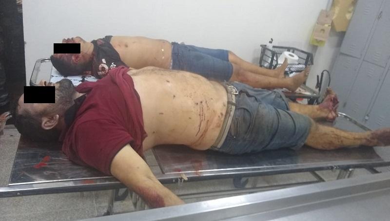 Corpos dos suspeitos de sequestro em assalto ao Banco do Brasil de Codó. Foto: Site Codó Notícias